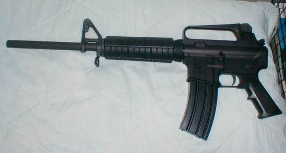Assembled rifle, waiting for correct stock